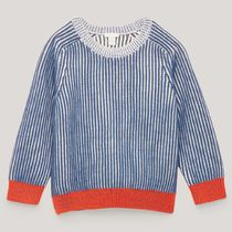 """COS KIDS"" HALF-CARDIGIAN STITCH JUMPER BLUE/WHITE/RED"