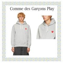 COMME des GARCONS Play グレー ハート パッチ フーディ