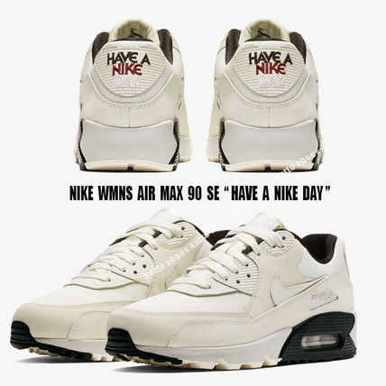 Nike スニーカー NIKE★WMNS AIR MAX 90 SE★HAVE A NIKE DAY★PALE IVORY