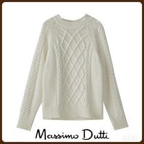 MassimoDutti♪TEXTURED CABLE-KNIT SWEATER