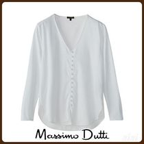 MassimoDutti♪COTTON SHIRT WITH LINED BUTTONS
