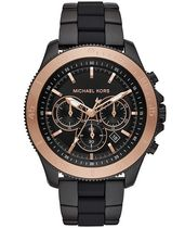 MK8666 Chronograph Theroux Black Stainless Steel & Silicone