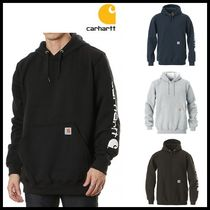 ☆CARHARTT☆ MIDWEIGHT SIGNATURE SLEEVE LOGO HOODED 4色
