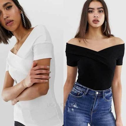 ASOS Tシャツ・カットソー 国内発送ASOS DESIGN off shoulder fitted top