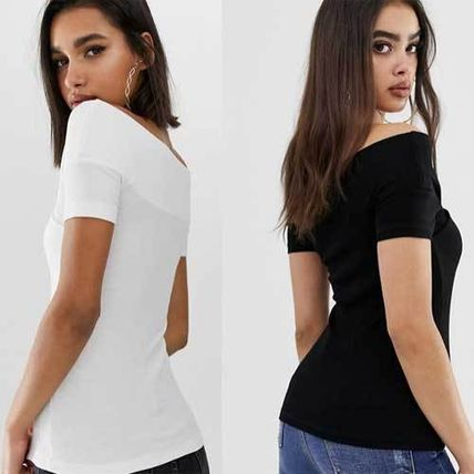 ASOS Tシャツ・カットソー 国内発送ASOS DESIGN off shoulder fitted top(2)