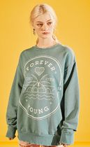 eyeye(アイアイ) スウェット・トレーナー eyeye★EYEYE☆FOREVER YOUNG STAMP WASHING SWEATSHIRT_GREEN