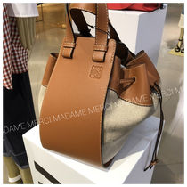 【LOEWE】2WAYバッグ♪《Hammock medium》◆TAN+NATURAL◆追跡付