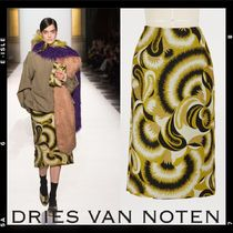 Sale【Dries Van Noten】Jaquard pencil skirt