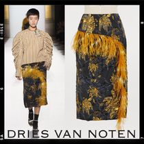 Sale【Dries Van Noten】Feathers skirt