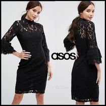 ASOS(エイソス) ワンピース 【即発】ASOS Paper Dolls High Neck Midi Lace Dress