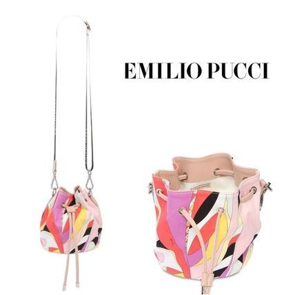 Emilio Pucci 子供用ショルダー・ポシェット・ボディバッグ 送料込 Emilio Pucci プリントバケットバッグ 大人もOK!国内発送