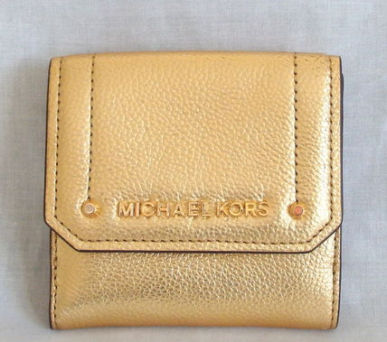 【1-2日到着】Michael Kors●MD TRIFOLD COIN CASE●ゴールド