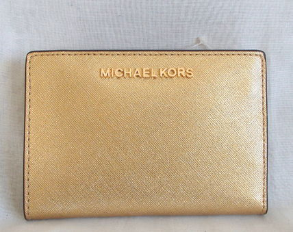 【1-2日到着】Michael Kors●MD CARD CASE CARRYALL財布●GOLD