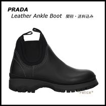 *PRADA*Leather Ankle Boot 関税/送料込