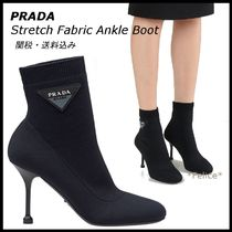 *PRADA*Stretch Fabric Ankle Boots 関税/送料込