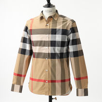 BURBERRY 8004827 1005 シャツ チェック CAMEL-IP/CHECK