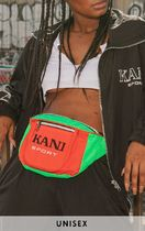 コラボPrettyLittleThing × KARL KANI RED COLOR BLOCK BUM BAG