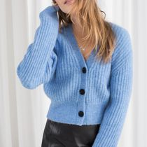 """""""& Other Stories"""" Wool Blend Cardigan Blue"""