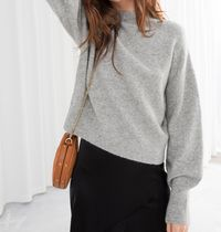 """& Other Stories"" Mock Neck Sweater Gray"