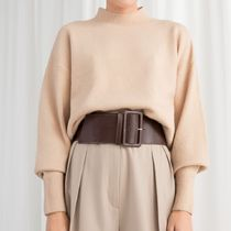 """""""& Other Stories"""" Mock Neck Sweater Beige"""