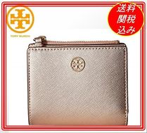 関税.送料込 Tory Burch Robinson Metallic Mini Wallet 財布