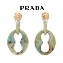 【19SS】★PRADA★Crystal-embellished drop earrings