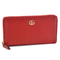 GUCCI   PETITE MARMONT   ファスナー長財布    HIBISCUS RED
