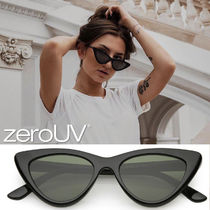 zeroUV*retro-womens-1990s-small-thick-cat-eye-sunglasses