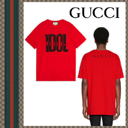 bb68243ad1e GUCCI Tシャツ・カットソー グッチ 19SS Oversize t-shirt with Billy Idol print コットン ...