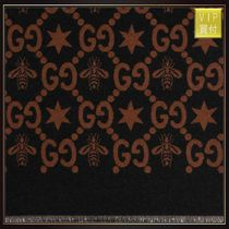 【GUCCI】GG jaquard scarf with bees and stars