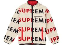 Supreme Reversible Logo Fleece Jacket Natural