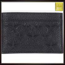 【JIMMY CHOO】Dean leather card case with embossed stars