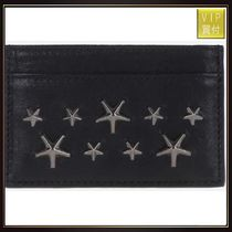 【JIMMY CHOO】Dean studded leather card case