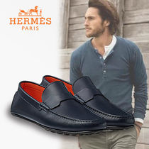 HERMES直営店★ Pacome loafer パコム ローファー メンズ marine