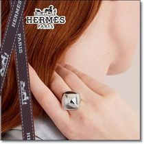 ◆HERMES◆贈り物にも  Collier de Chien Rock ring mediummodel