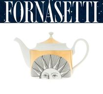 *FORNASETTI*sole tea pot 太陽柄ティーポット Gold 国内発送