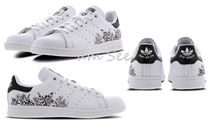 【adidas Originals】Stan Smith Embroideryモノクロ花柄sneaker