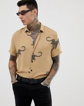 Heart & Dagger printed shirt with leopard print