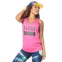 ★国内発送★ ズンバ Zumba I Love Zumba Tank Shocking Pink