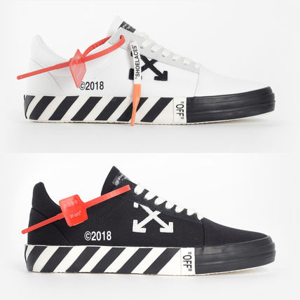 OFF WHITE 19SS ARROW LOGO VULC SNEAKERS