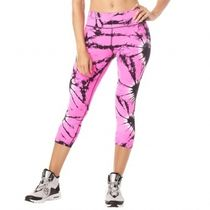 ズンバ Zumba Tie Dye For Zumba Capri Leggings Shocking Pink