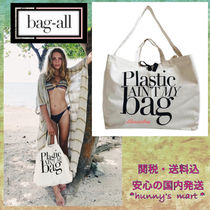 Bag all(バッグオール) 水着・ビーチグッズその他 【Bag-all】NY発〓 SHOPPING/BEACH TOTE - PLASTIC AIN'T