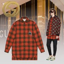 GUCCI 19SS【直営店】新作 Camicia oversize チェック シャツ