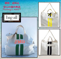 Bag all(バッグオール) 水着・ビーチグッズその他 【Bag-all】NY発〓 SHOPPING/BEACH TOTE - STRIPES