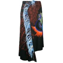 SALE!!【Dries Van Noten】feather print skirt