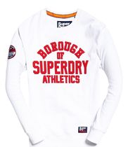 SALE★UK発Superdry'Academy Ribbed Crew Jumper'(White)