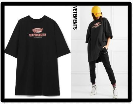 セール限定VETEMENTSヴェトモンOversized printed cottonT-shirt