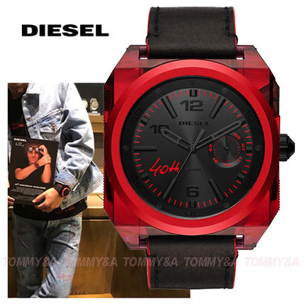 ★限定!レア★Diesel Limited Edition Blackレザー DZ1882