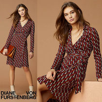 "DVF New Jeanne Two★シルクジャージーラップドレス ""Why""ジオメ"