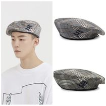 日本未入荷ROMANTIC CROWNのE.D.V Check Beret 全2色